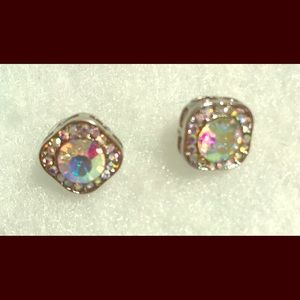 Cubic zirconia diamond studded earrings